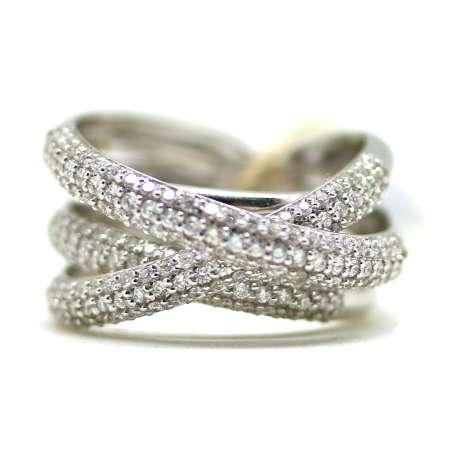 Anillo Oro Blanco 18Kl & Diamante 0.85 Ct