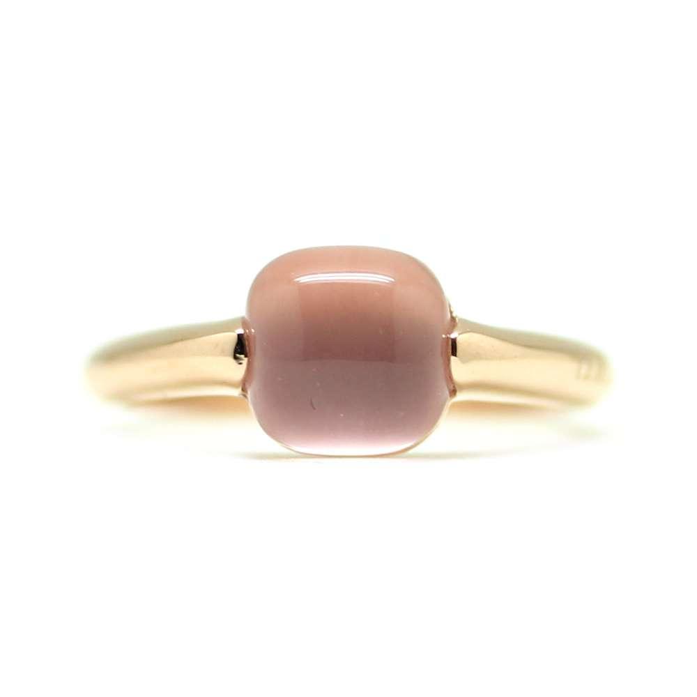 Anillo Oro rosa 18Kl Cuarzo Rosa
