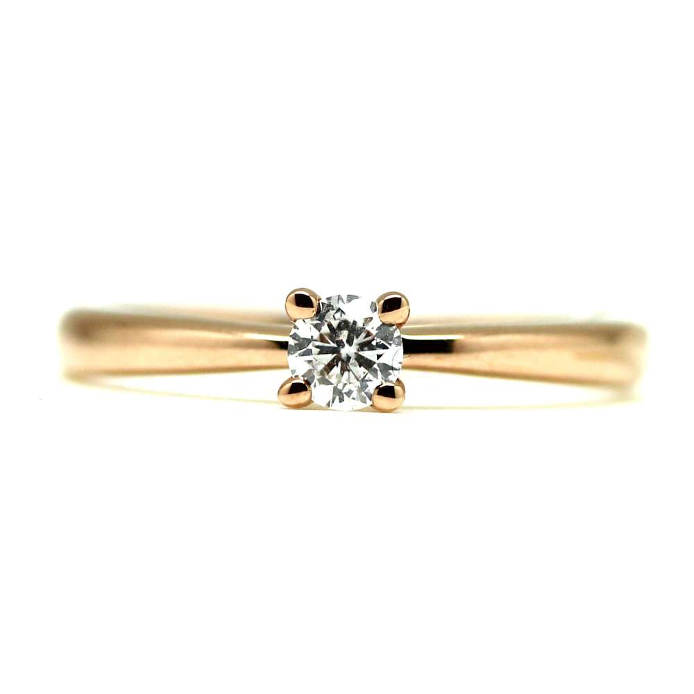 Engagement Ring Rose Gold 0.19 Ct