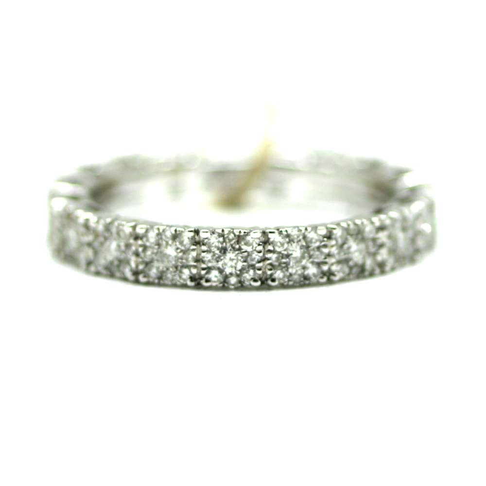 18Kl White Gold Ring & Diamond 0.90 Ct