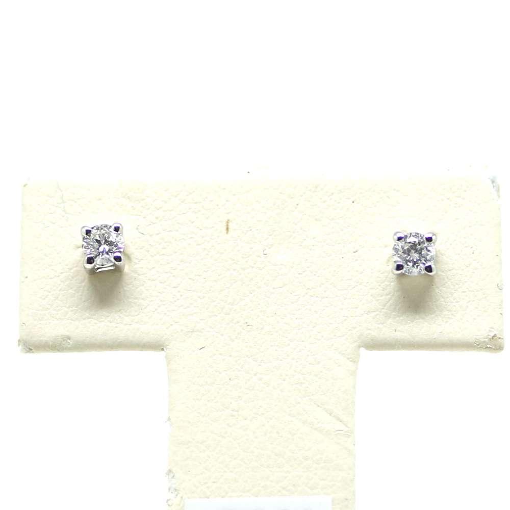 Ohrringe Weißgold 18 Kl. 0,15 CT
