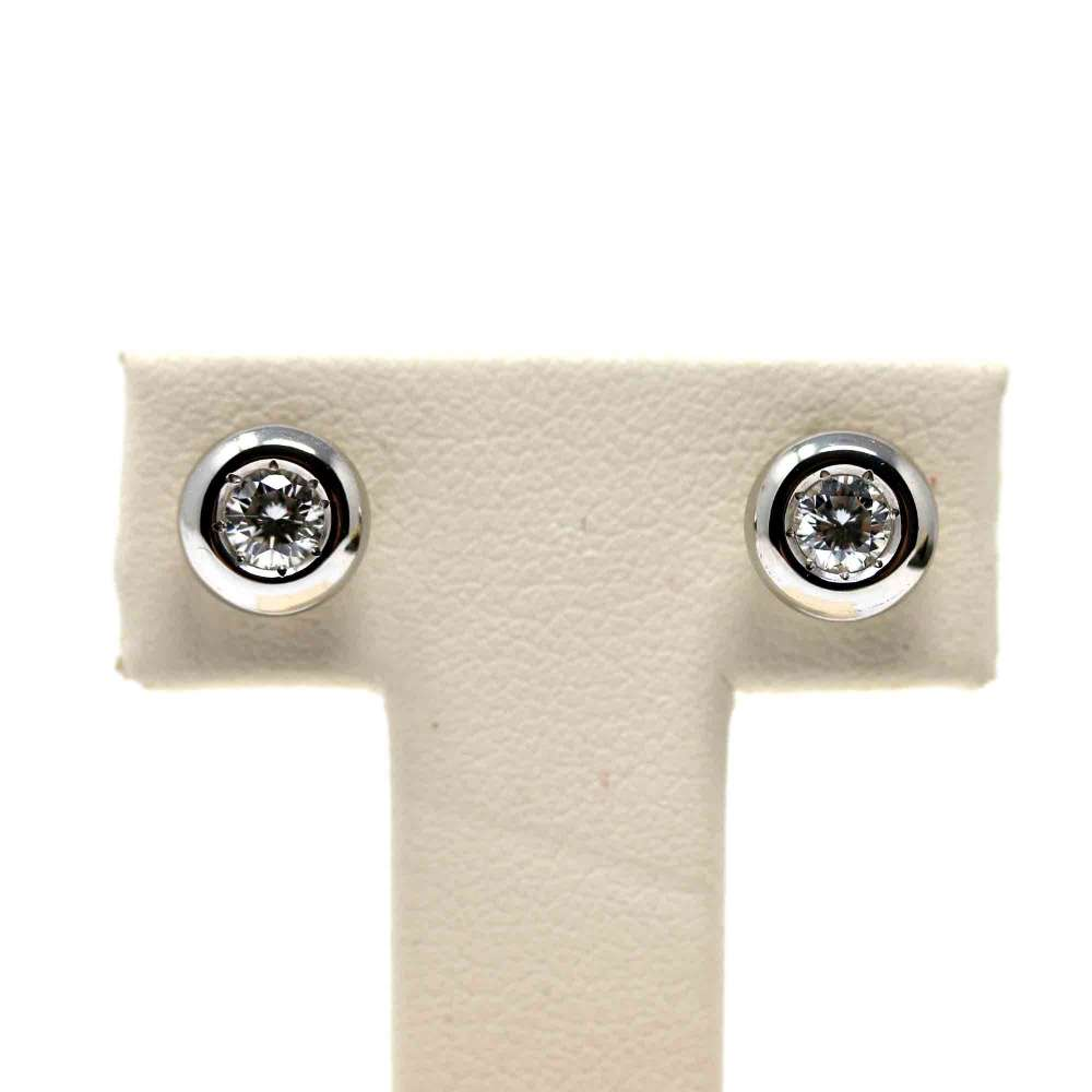 Earrings 18kte white gold. 0.30CT.