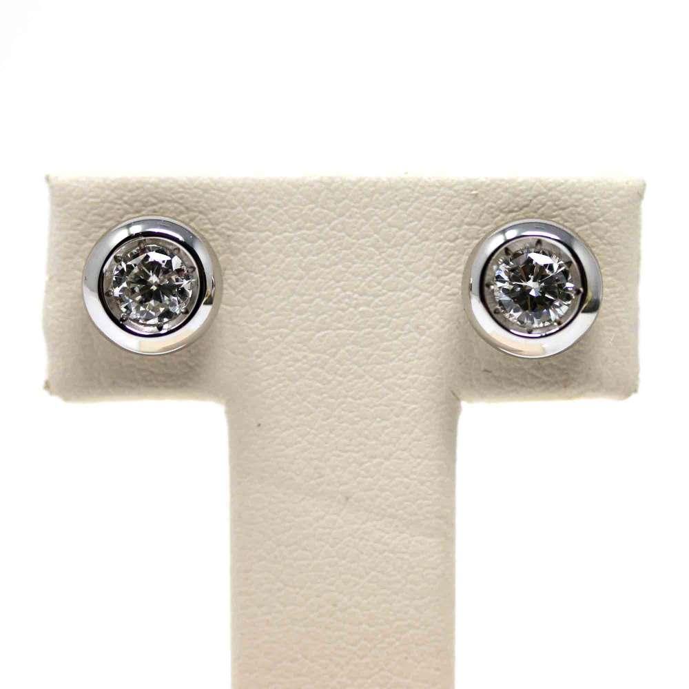 Earrings 18kte white gold. 0.60CT.