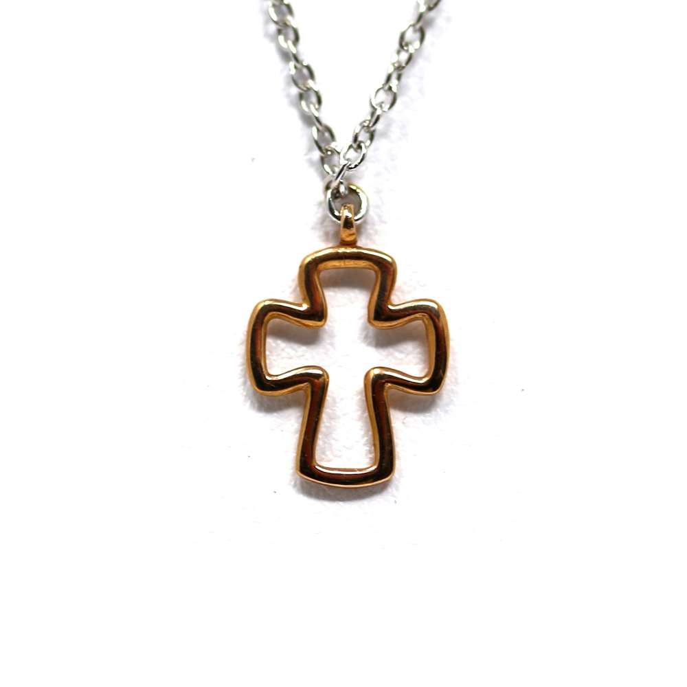 Chain and Cross Gold 18 K