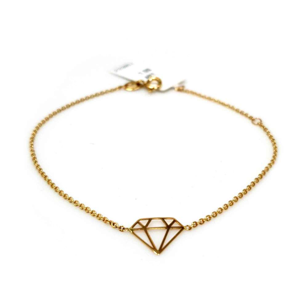 Bracelet and Pendant Yellow Gold 18kte.