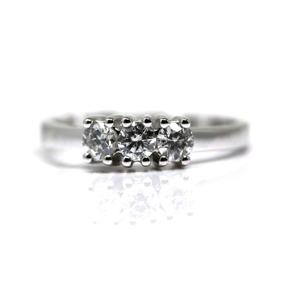 Anillo Oro Blanco 18K 0.32Ct Diamantes