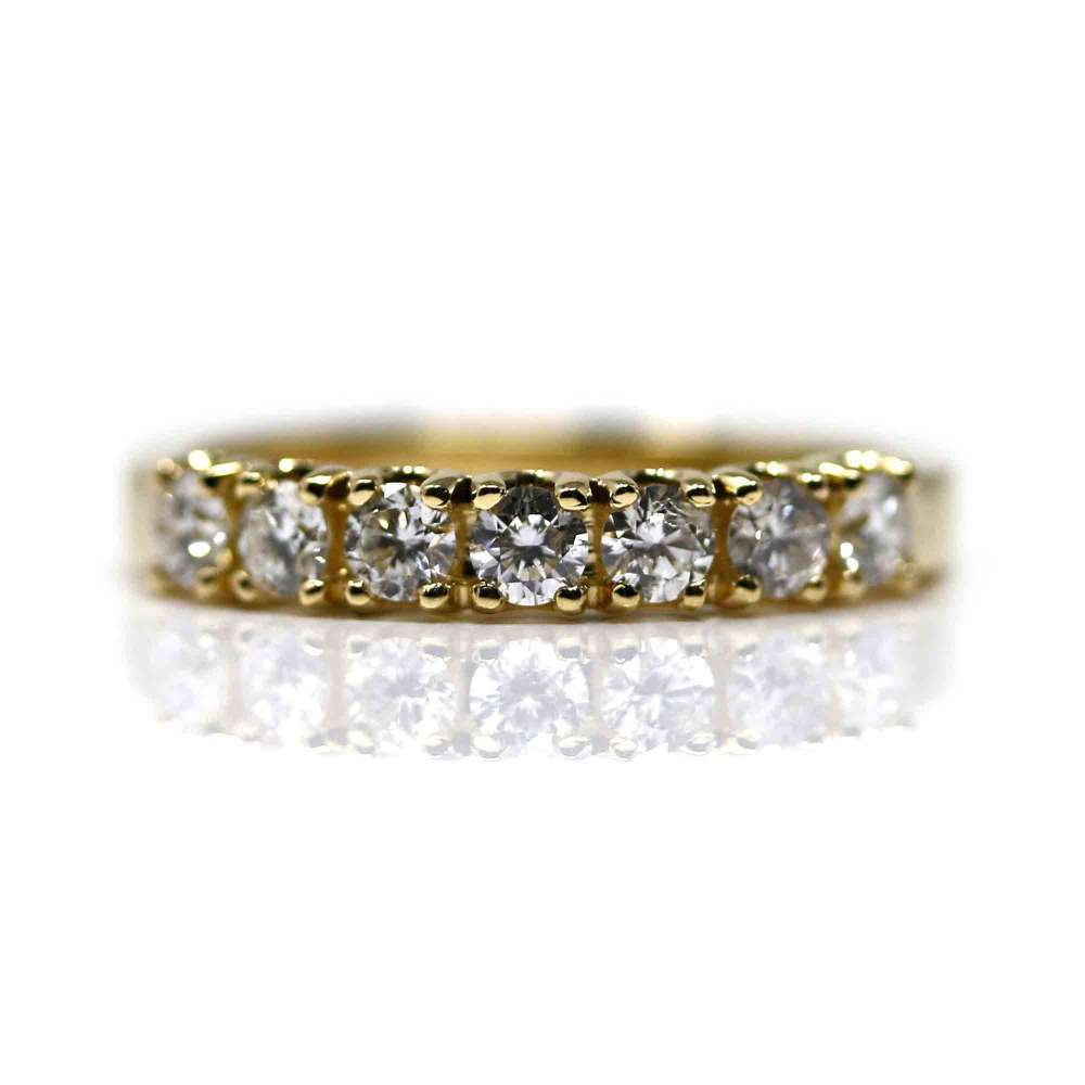 Yellow Gold Ring & Diamond 0,59 Cts
