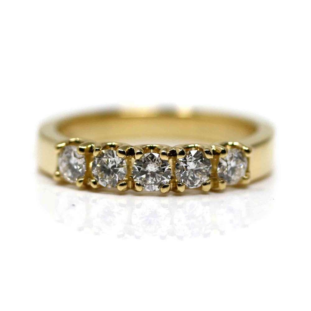 Yellow Gold Ring & Diamond 0,60 Cts