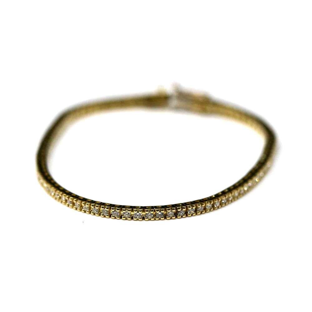 Bracelet Rivier Or jaune et brillant