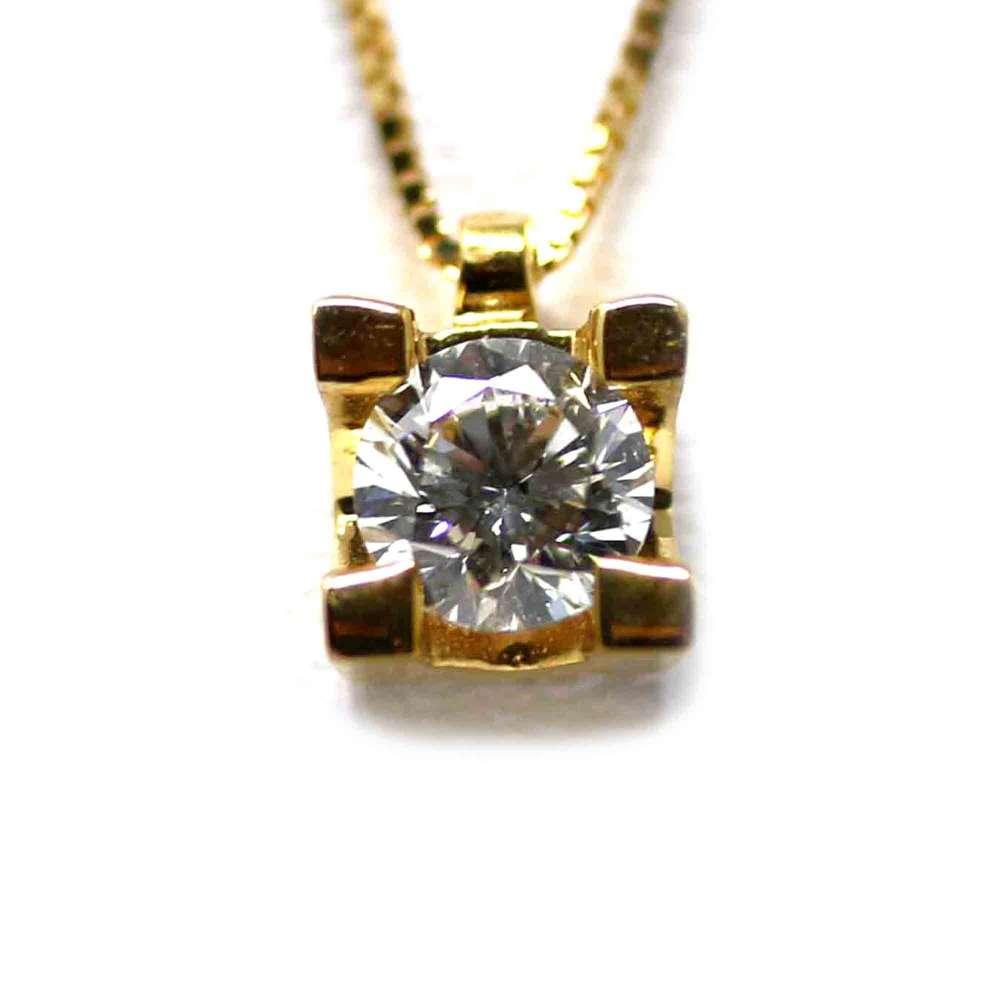 Cadena Y Colgante Oro Amarillo 18Kl Brillante 0,30 Cts