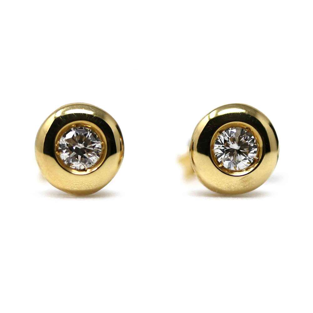 Yellow Gold Ohrringe 18kl & Diamant 0,24Cts