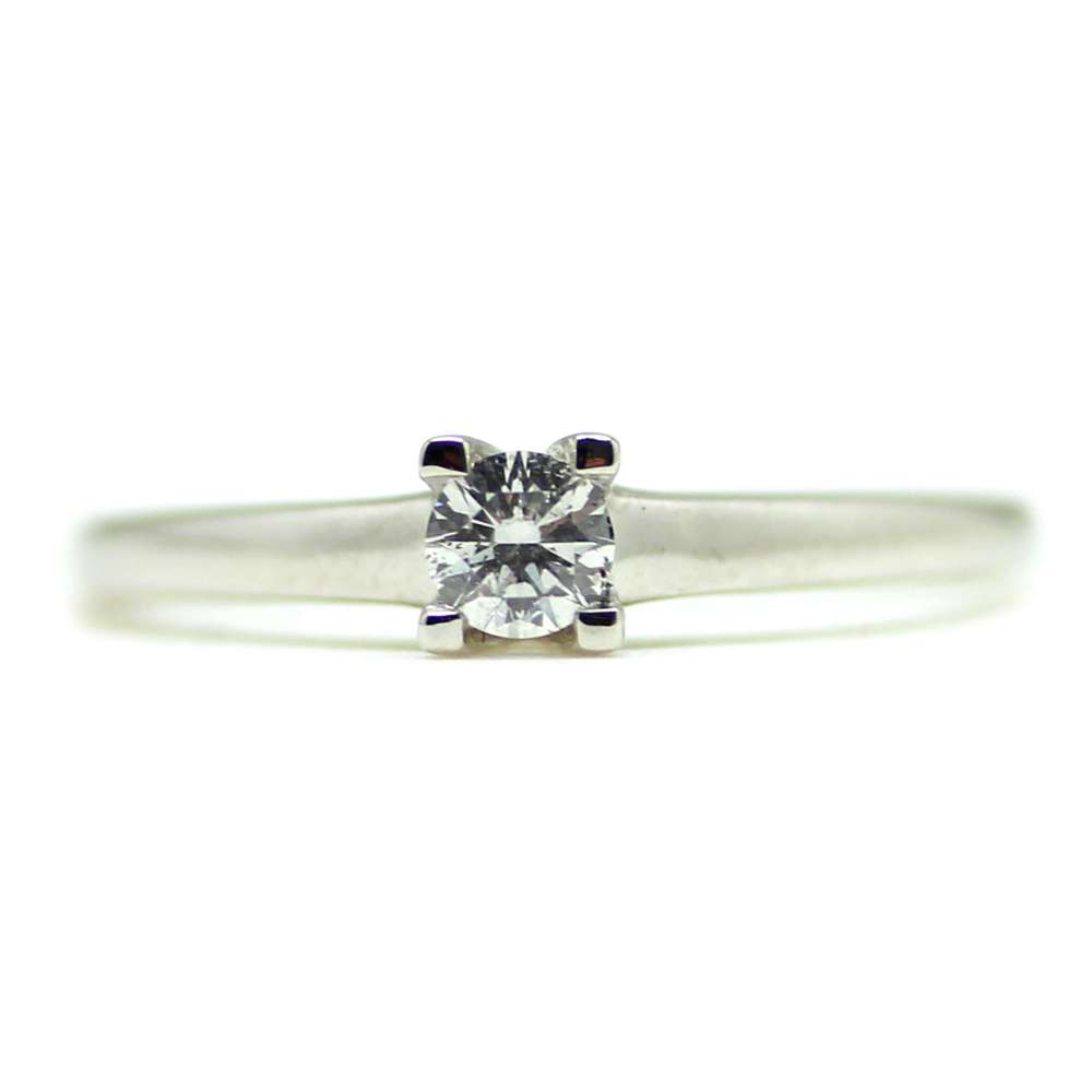 Engagement Ring White Gold 18Kl 0,15 Cts