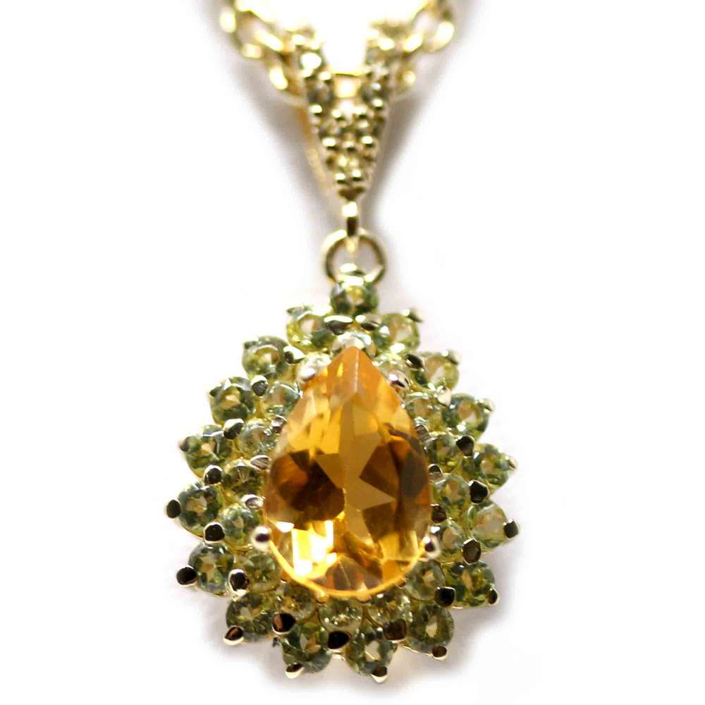 18kte Yellow Gold Chain and Pendant with Citrine and Periods