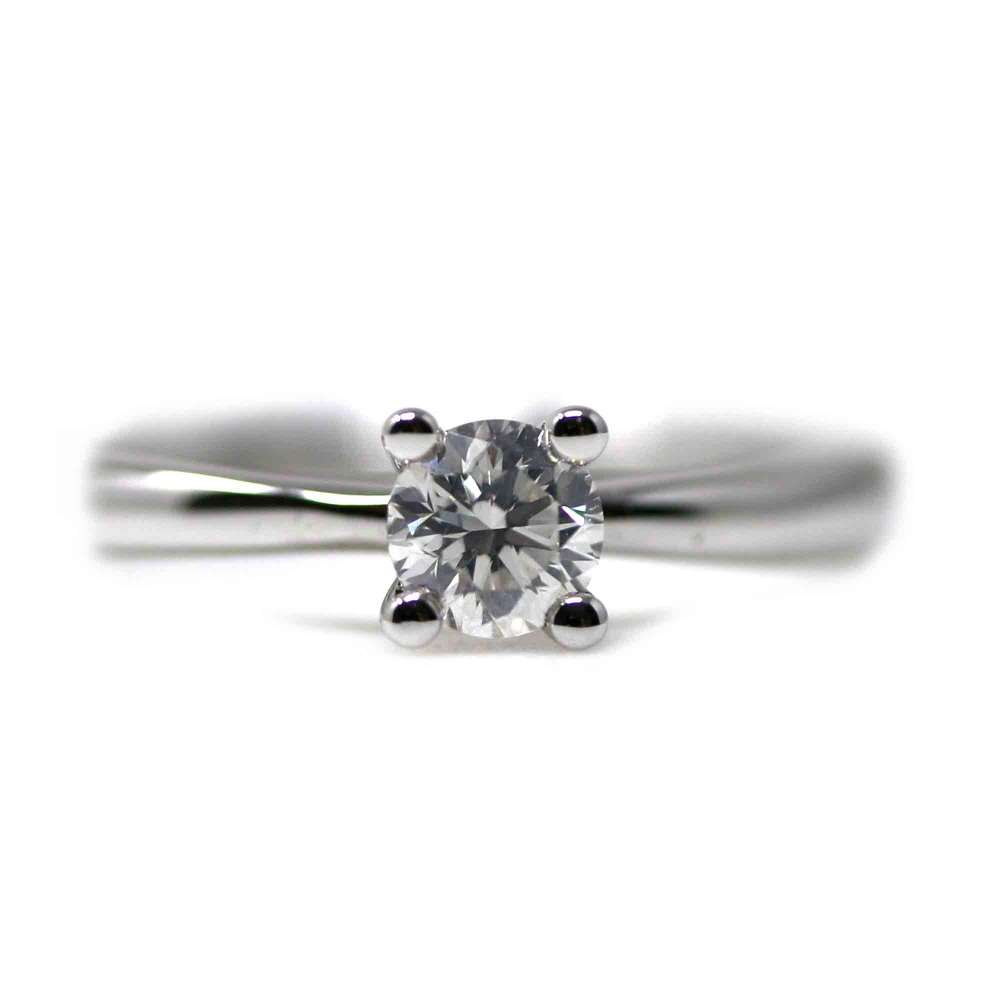 Engagement Ring White Gold 0.32 Ct