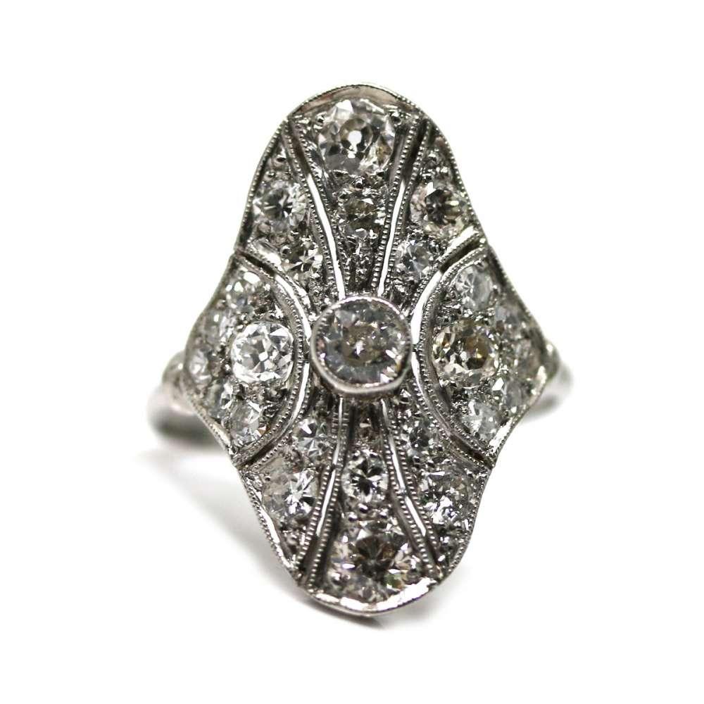 Vintage Ring 0.75 Ct Platinum & Diamond