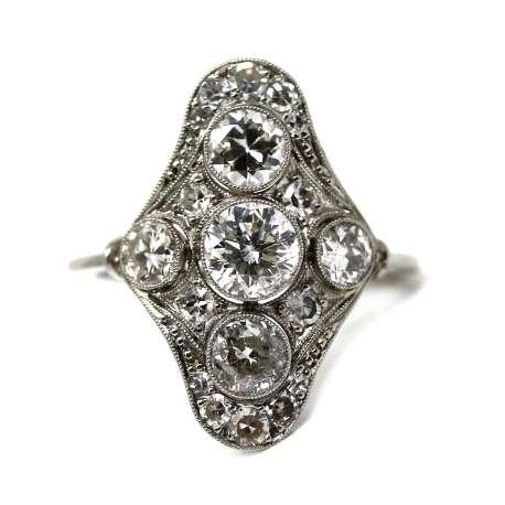 Sortija Vintage 0,84 Esmeralda & Diamante