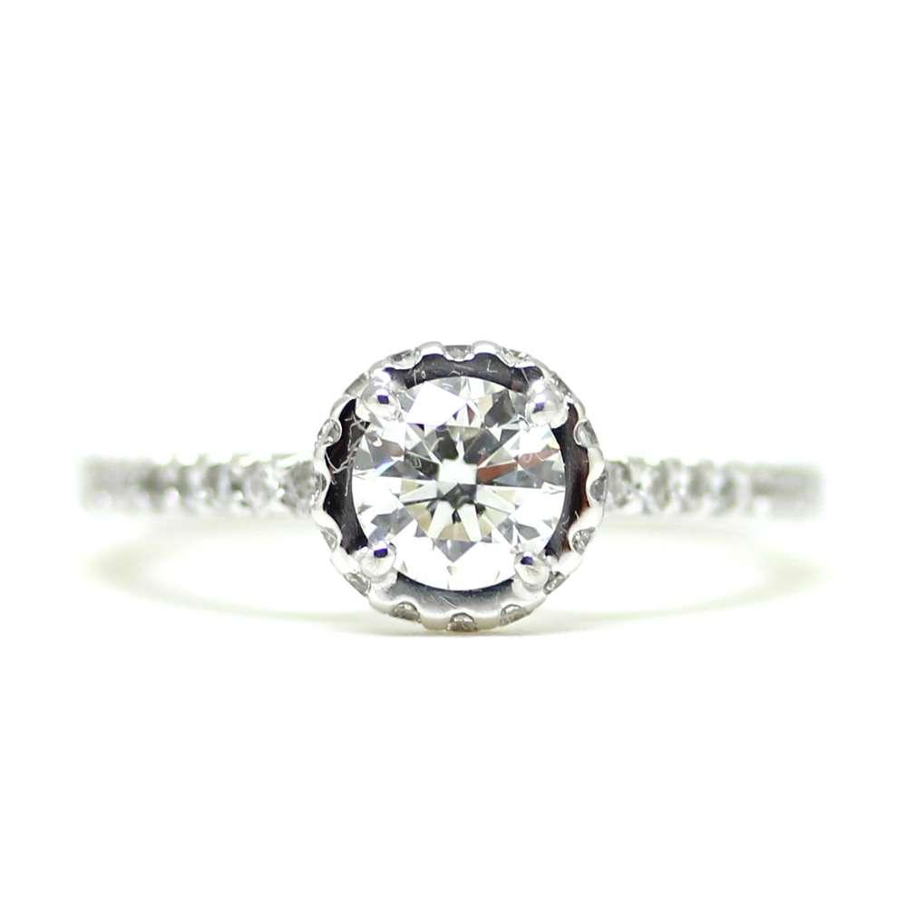 Bague de fiançailles diamant 0.60 Ct