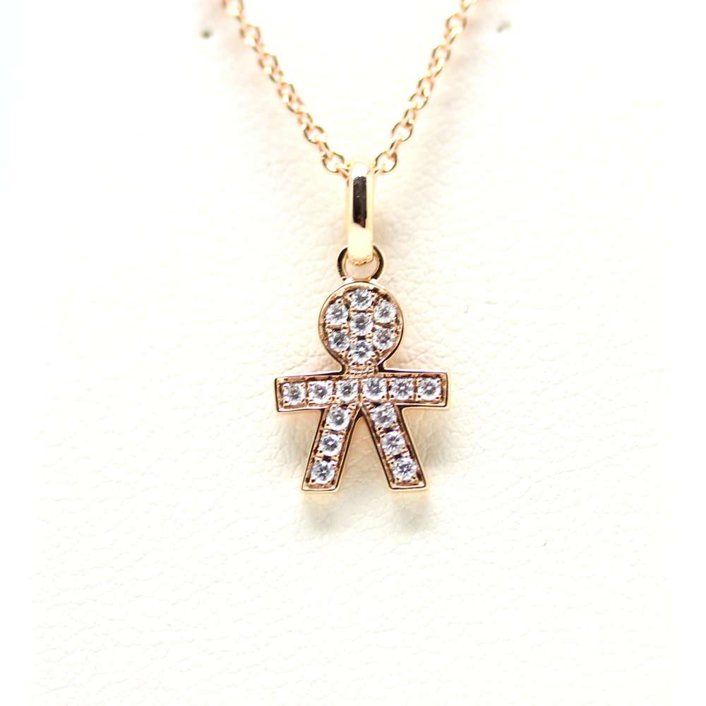 Pendant Child 18 Kl and Diamond 0.15 Ct