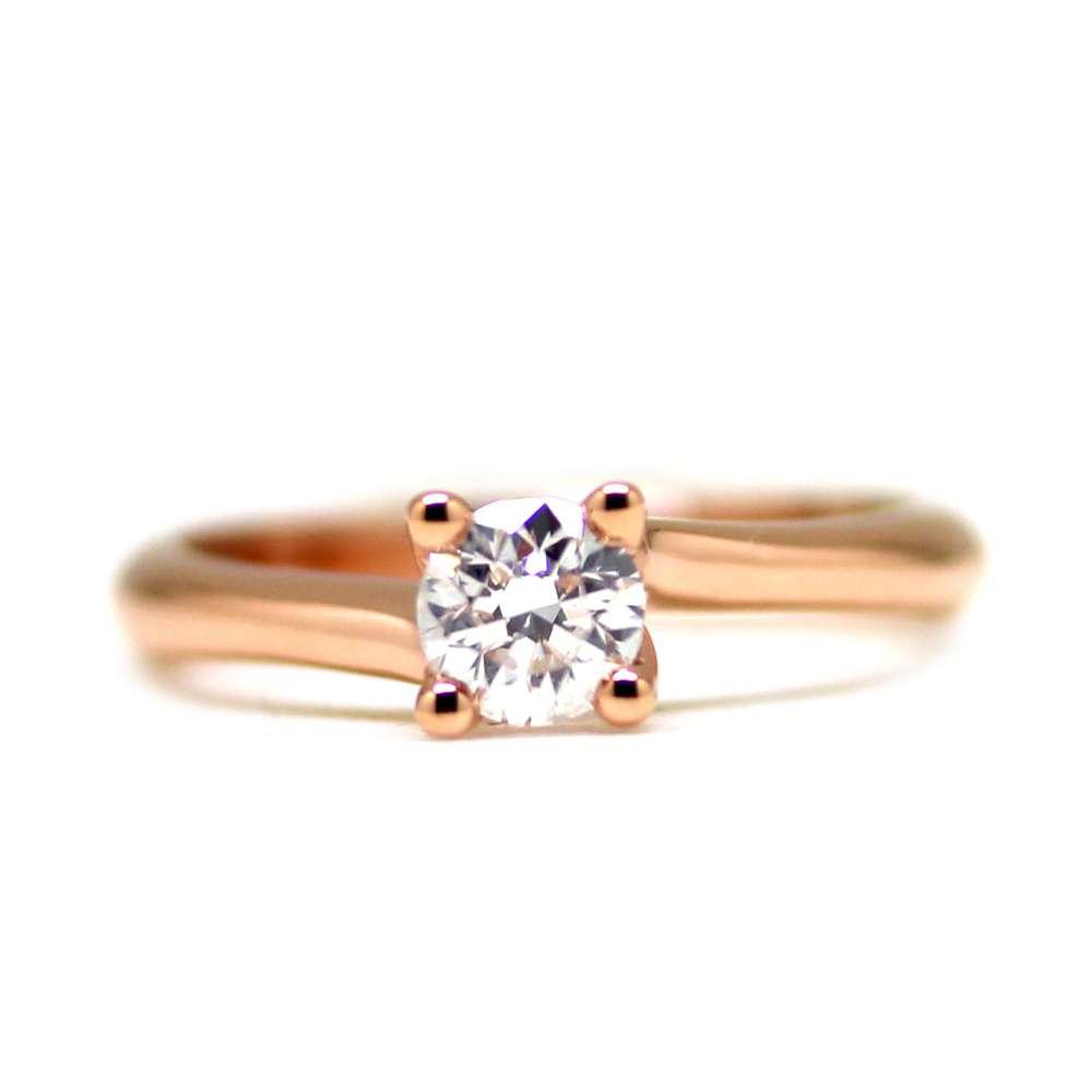 Engagement Ring Rose Gold 0.50 Ct