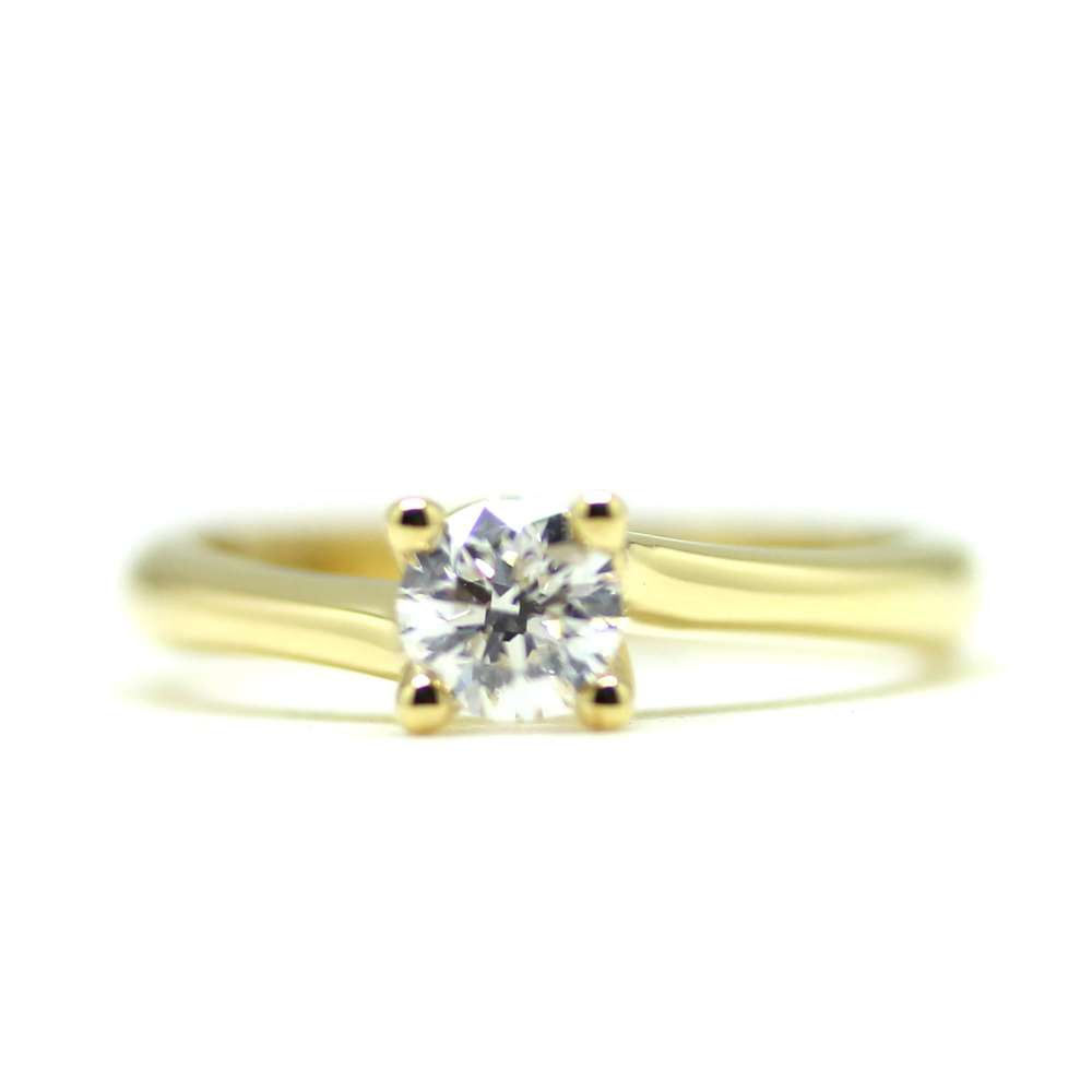 Verlobungsring Yellow Gold & Diamant 0.50 Ct