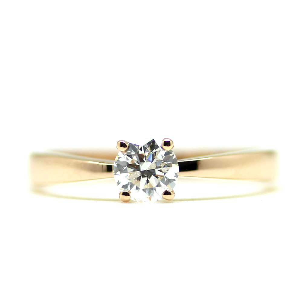 Engagement Rose Gold & Diamond 0.50 Ct