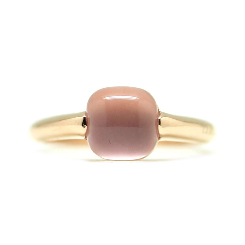 Ring Rose Gold 18Kl Pink Quartz