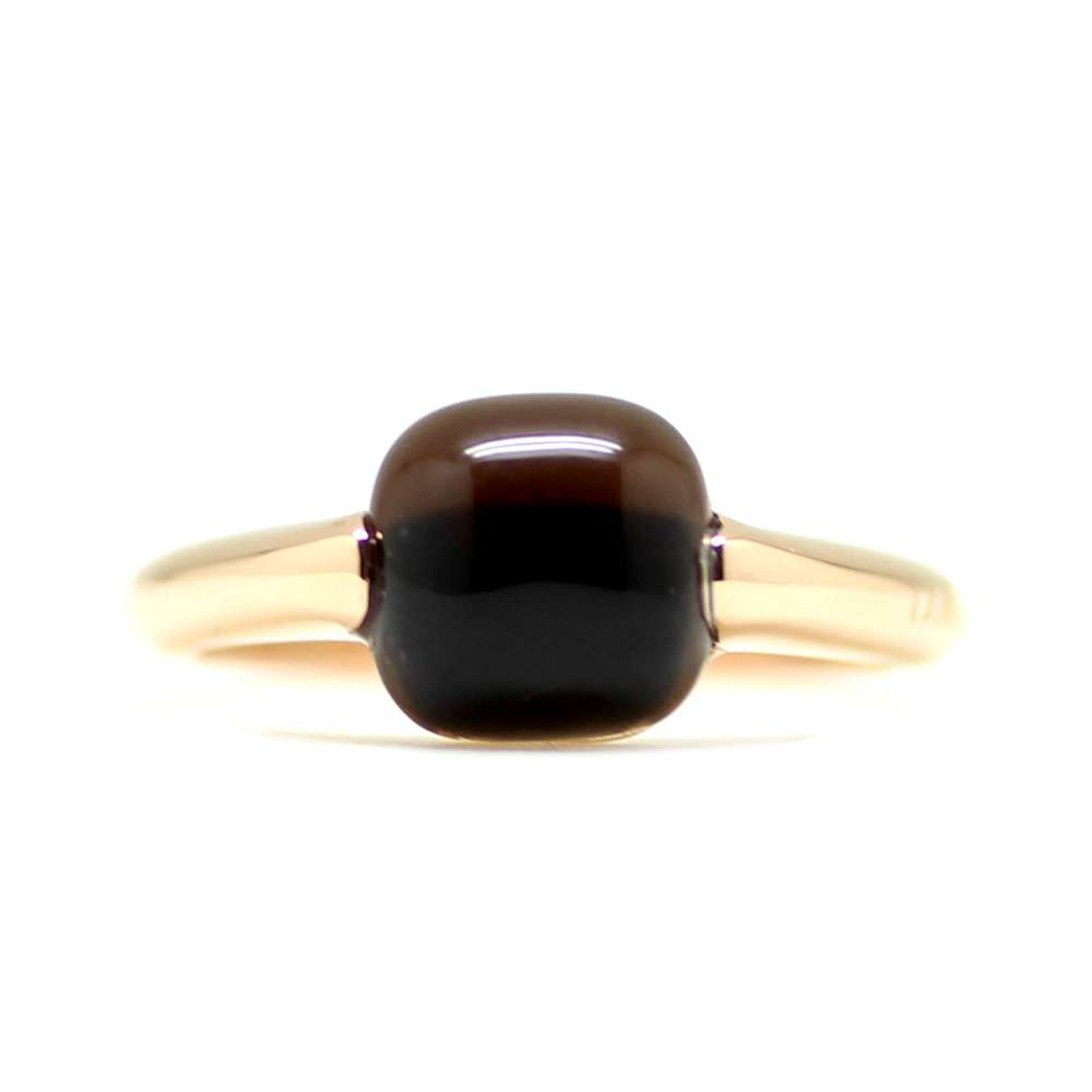Ring Rose Gold 18Kl Brown Quartz