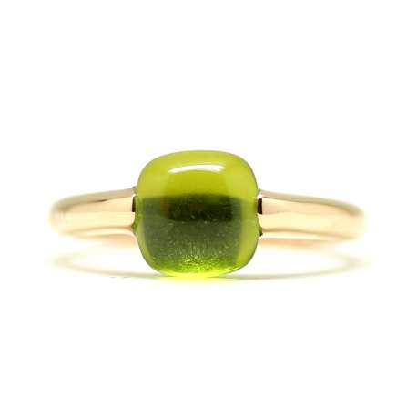 Ring Rose Gold 18Kl Green Quartz