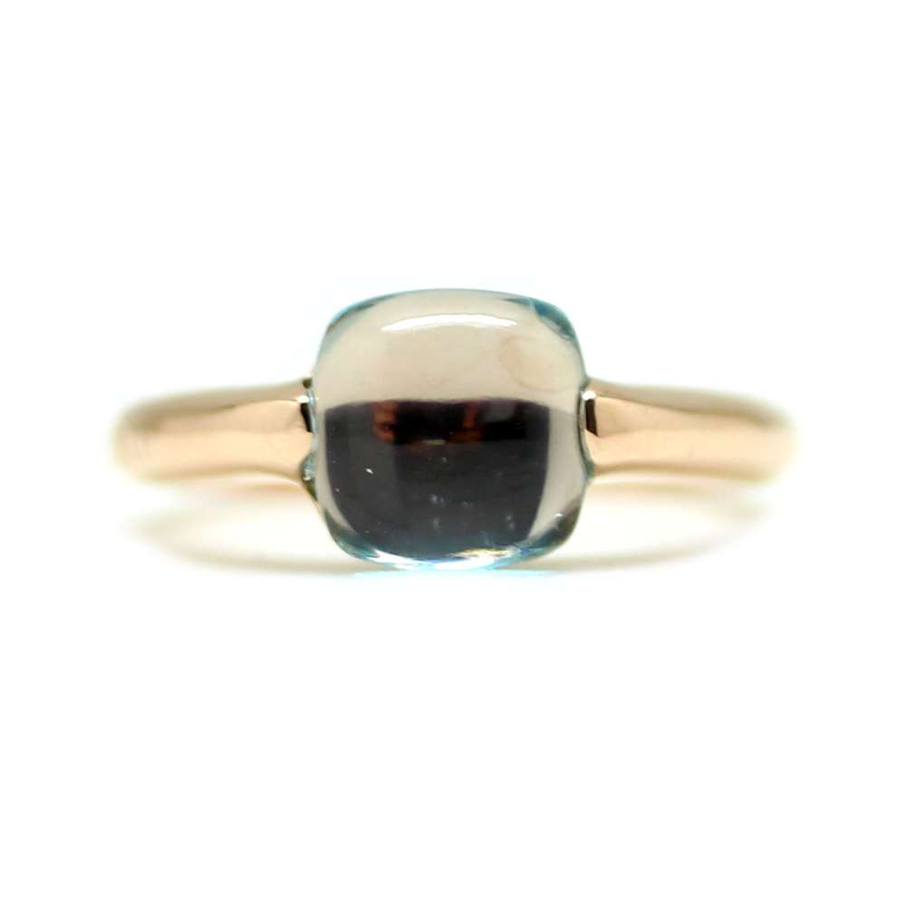 Ring Rose Gold 18Kl Blue Quartz