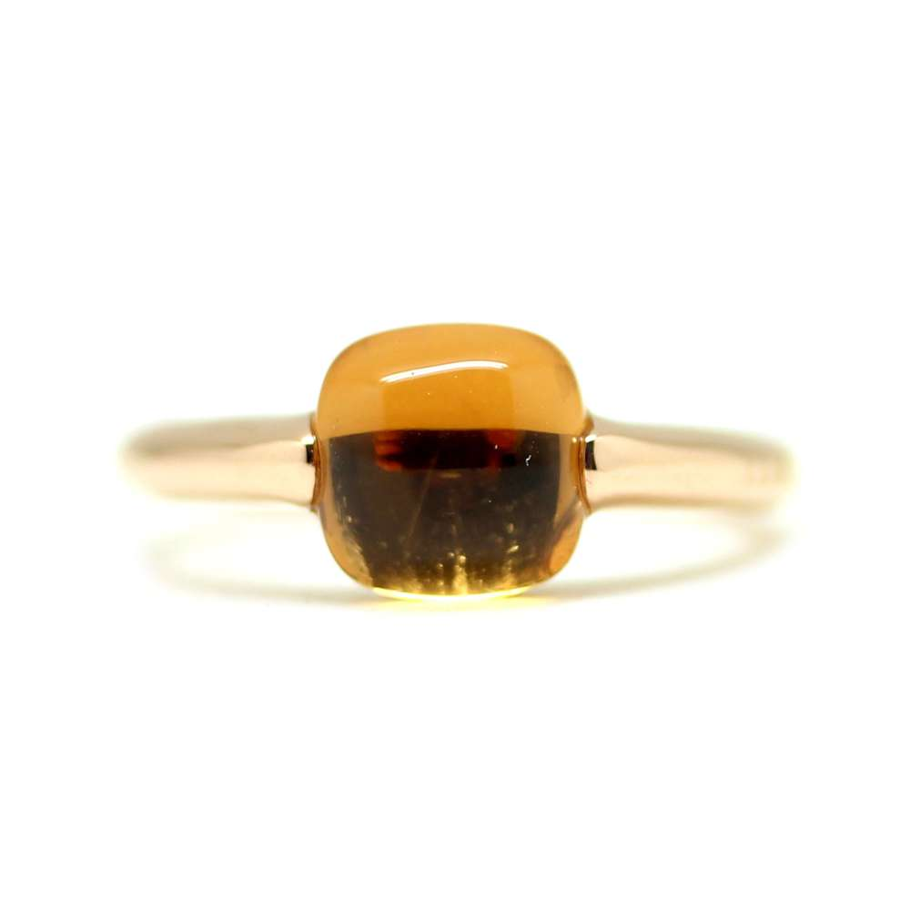 Ring Rose Gold 18Kl Amber Quartz