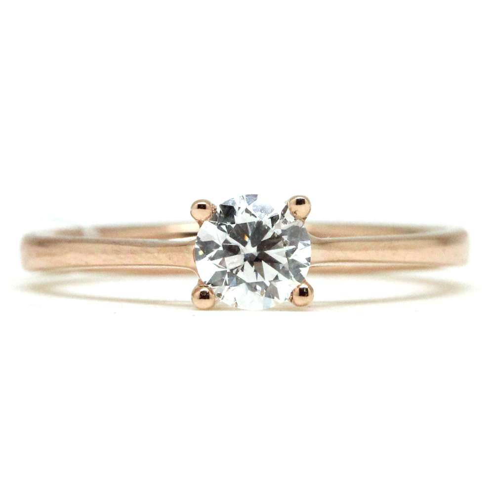 Engagement Ring Rose Gold 18 Kl 0.50 Ct