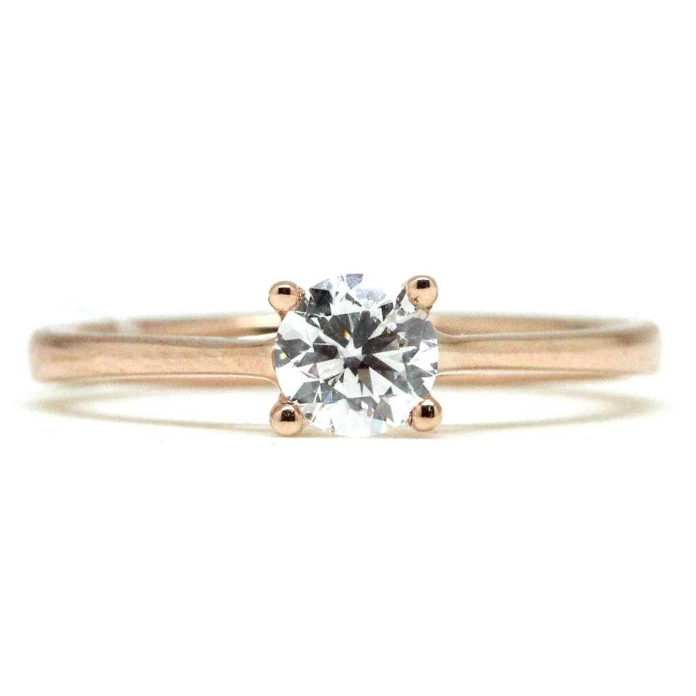 Verlobungsring Rosegold 0,50 Ct