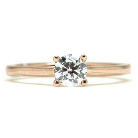 Engagement Rose Gold 0.50 Ct