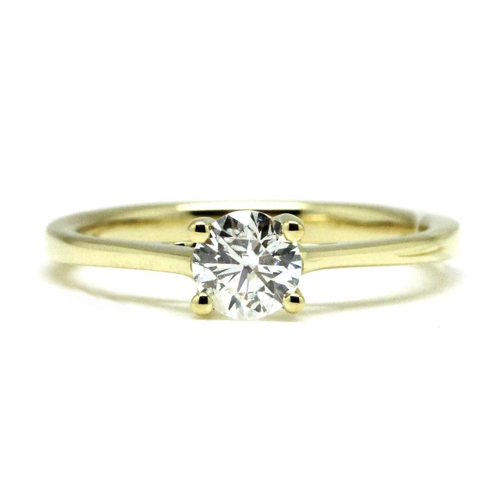 Engagement Ring Yellow Gold 0.50 Ct