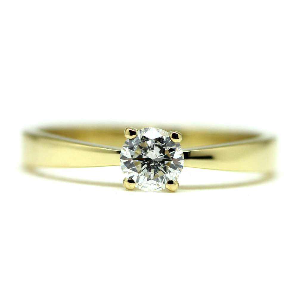 Engagement Ring Yellow Gold 0.41 Ct