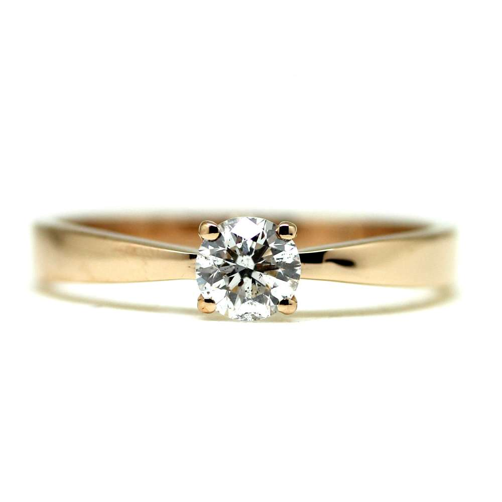 Engagement Ring Rose Gold 0.41 Ct