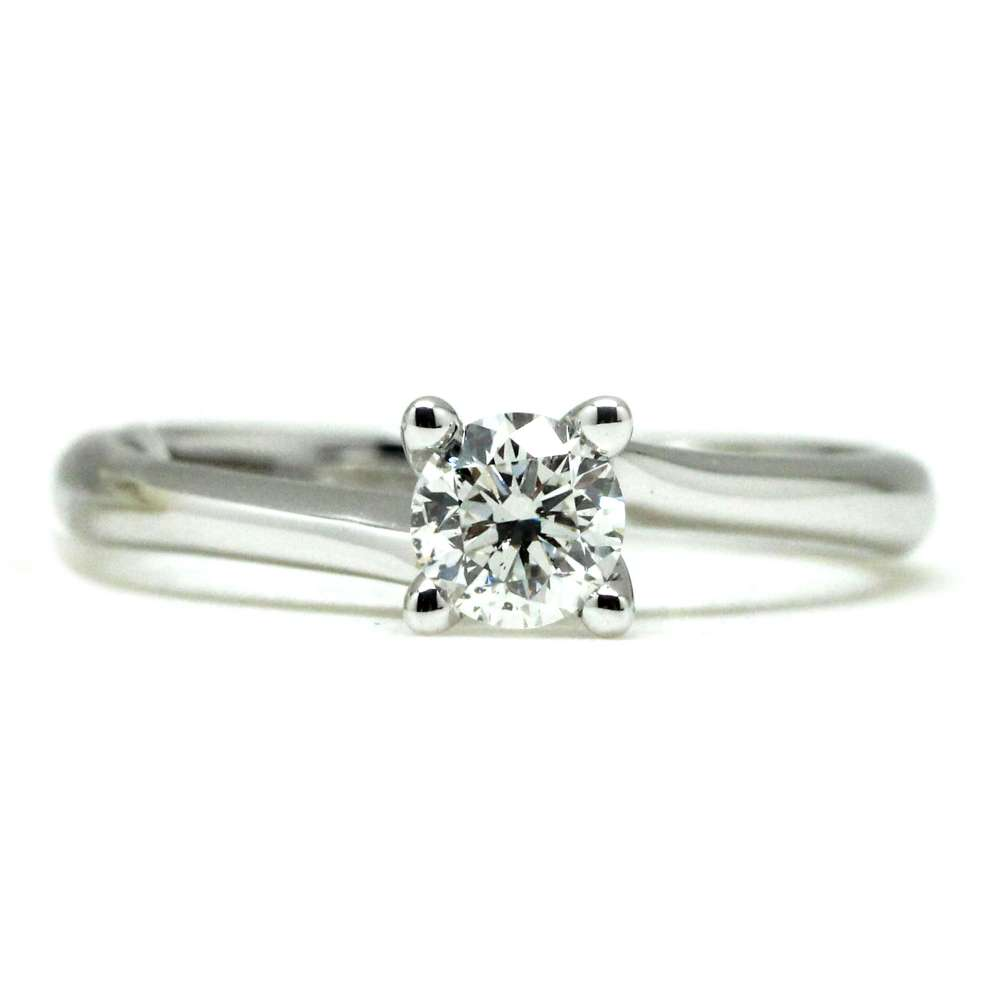 Engagement Ring White Gold 0.42 Ct
