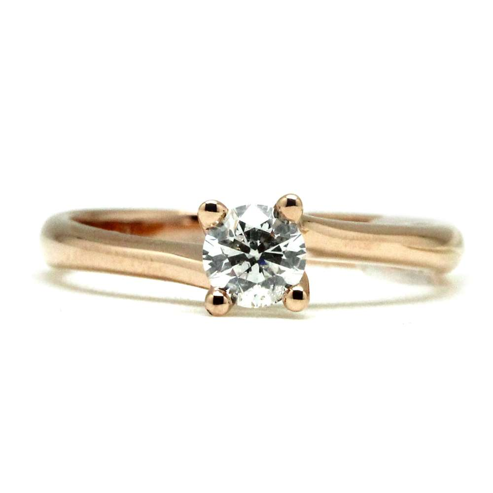 Engagement Ring Rose Gold 0.40 Ct