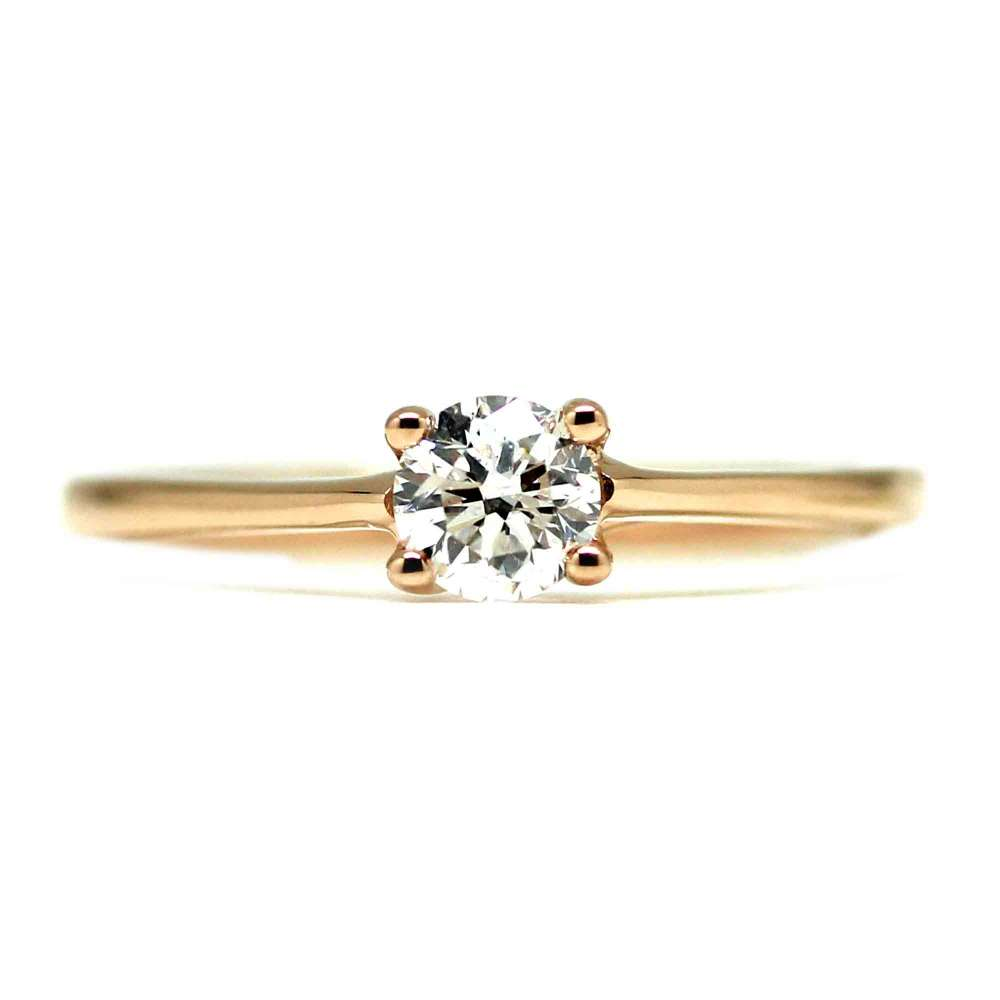 Verlobungsring Rosegold 0,40 Ct