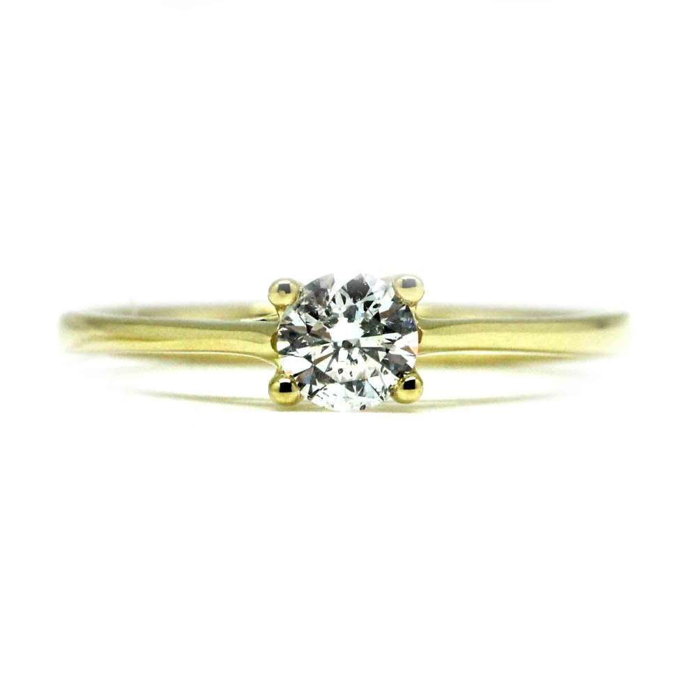 Engagement Ring Yellow Gold 0.40 Ct