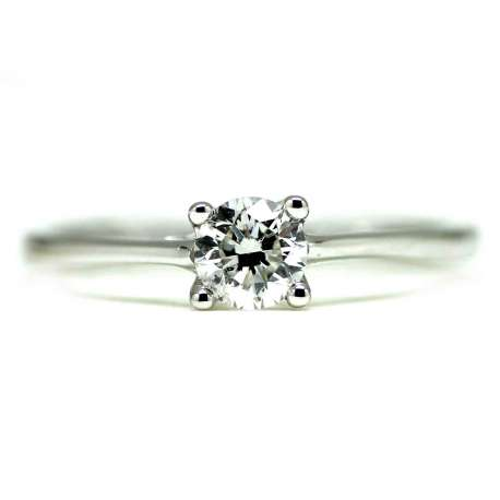 Engagement Ring White Gold 0.41 Ct